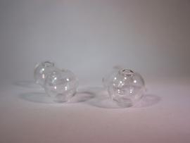 Glazen kraal met gaatje 16mm