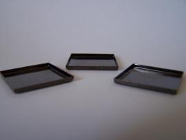 Zwartmetaal vierkant met gladde rand