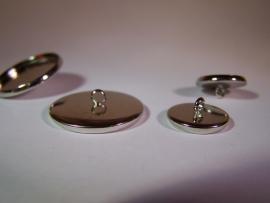 Zilverkleurig rond met gladde rand en oogje (CHROZGl)