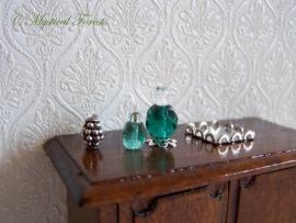 ZP Groene parfumflesjes 3