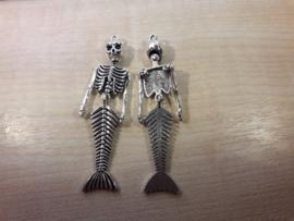 Zeemeerminskelet zilver