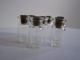 GFP-01 Glazen flesje met brede hals (2,5x1,2cm)