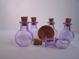 GFV-03pa Rond, paars flesje