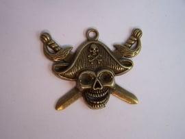 Piratenschedel met gekruiste zwaarden