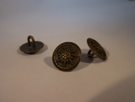 Bronskleurige metalen knoop 1