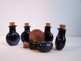 GFV-03zw Rond, zwart flesje