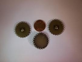 Bronskleurig rond met dubbel geschulpte rand en oogje (CHROBDGs)