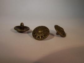 Bronskleurige metalen knoop 2