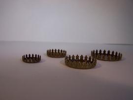 Bronskleurig rond met kroonrand (CHRBK)