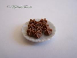 Roomboterkoekjes - Sprits chocolade