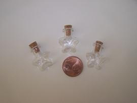GFV-07 Stervormig flesje (2,3x2cm)