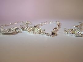 Bedelarmband zilver barok