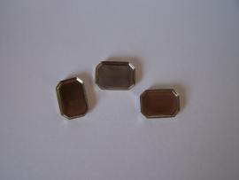 Zilverkleurig achthoek met gladde rand