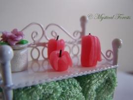 Kaarsen - roodroze