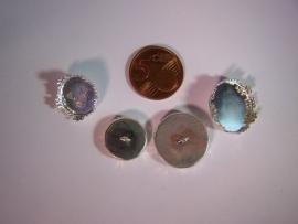 Zilverkleurig rond met barok rand en oogje (CHROZB)