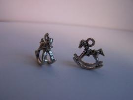 Hobbelpaard klein zilver