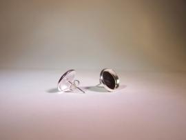 Oorbellen zilverkleurig per paar (12mm)