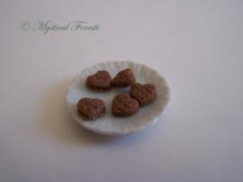 Roomboterkoekjes - Hartje chocolade