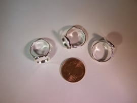 Elegant zilverkleurig ringetje (12mm)
