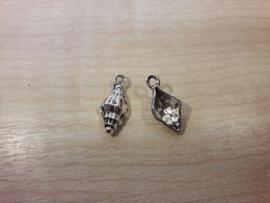 Schelp zeeslakkenhuis 2 zilver