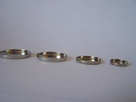 Zilverkleurig rond met gladde rand (CHRZGl)