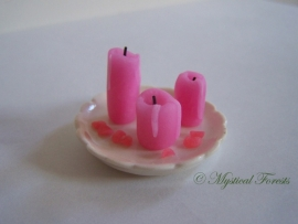 Kaarsen - babyroze