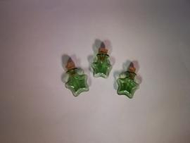 GFV-07gr Stervormig groen flesje