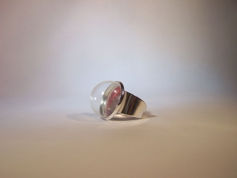 Strakke zilverkleurige ring (20mm)