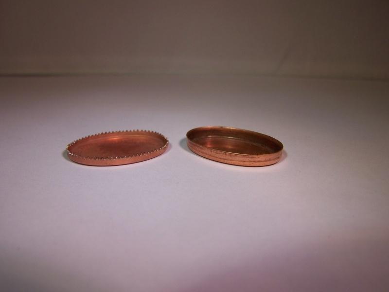 Roodkoper ovaal, 25x18mm