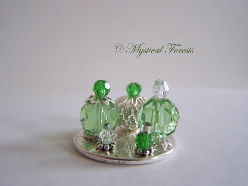 GR-01 Fonkelende groene parfumflesjes 1
