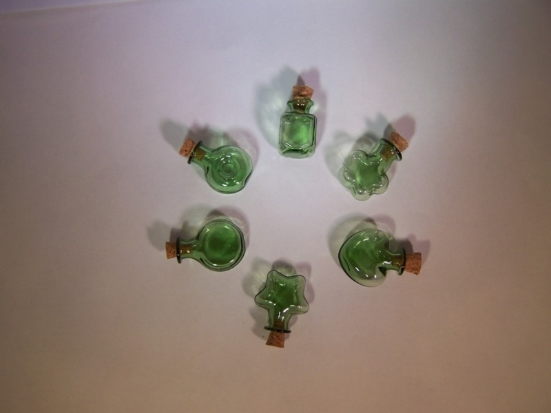 Groene vormflesjes