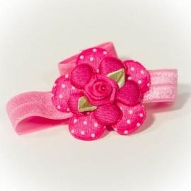 Fuchsia roze bloem met fel roze roosje