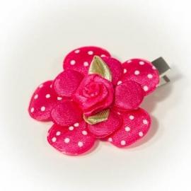Fuchsia roze met fuchsia roosje