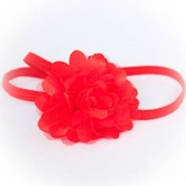 Haarband met rode roesel