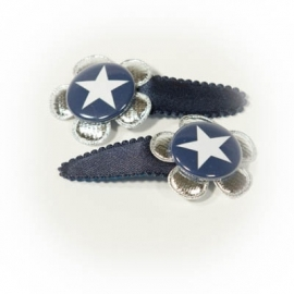 Donkerblauw navy ster