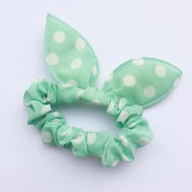Mint groen met stip