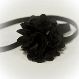 Haarband zwarte roesel