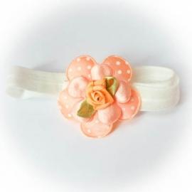 Peach kleur met witte stip