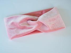Velvet haarband Roze