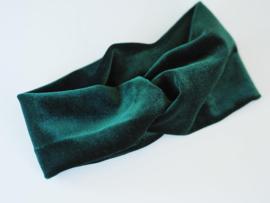 Velvet haarband groen