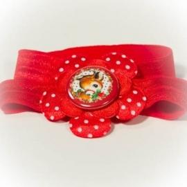 Haarband met rood hertje