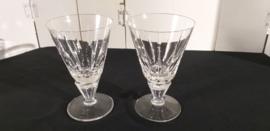 Set 2 st kristallen port/sherry/borrelglazen