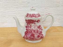 J & G Meakin MERRIE ENGLAND red koffiepot