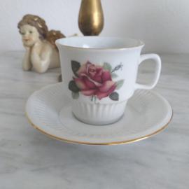 Rose kop en schotel