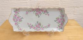 Roze roosjes cake/sandwish tray