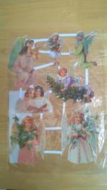 Poesieplaatjes Engelen / glitter nr 4