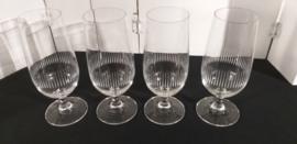 4 st Vintage bierglazen