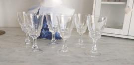 Cristal d'argues POMPADOUR 6 st likeur/borrel glazen