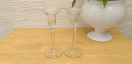 2 st glazen kandelaars