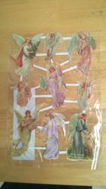 Poesieplaatjes Engelen / glitter nr 2